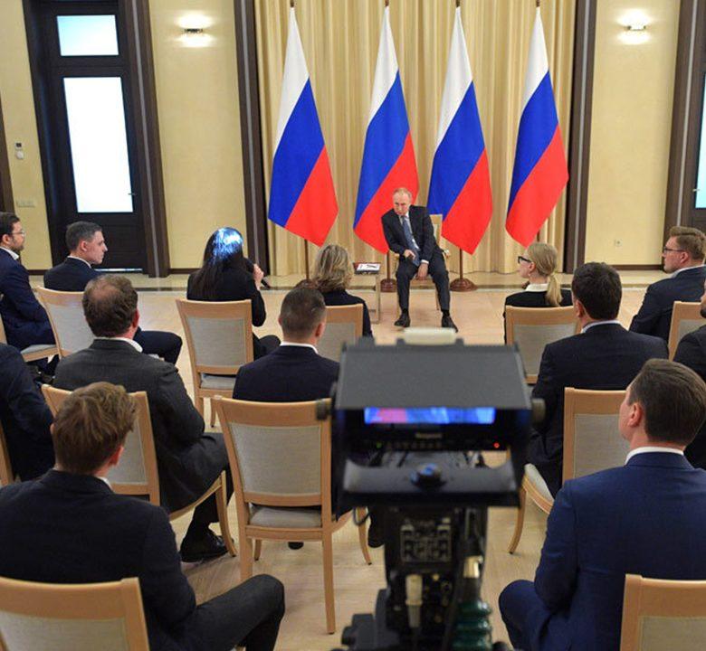 Ольга Кузьменко на встрече президента России с предпринимателями